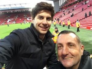 Julius and Craig at Anfield