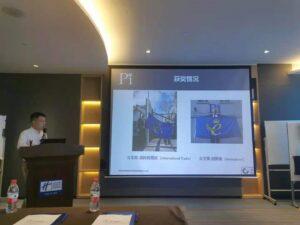 Chen Jiang highlighting Pi's recent Queen's Award success